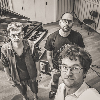 NorthEast Trio (w/ Arne Huber & Paolo Orlandi) rehearsing in Basel (CH), 2019 <em>Photo: Gregor s phone</em>