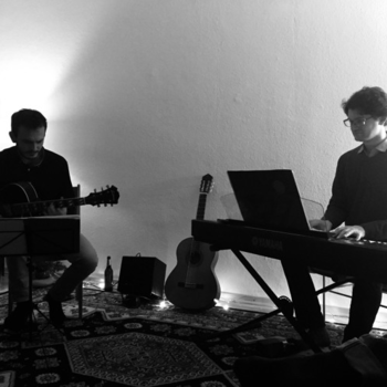 Duo with Filipe Duarte (gtr),Berlin 2018 <em>Photo: Maria Christina</em>