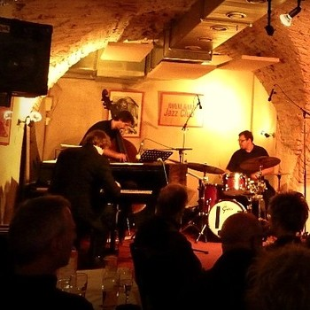 G.F. Trio with Joe Abentung (bs), Benny Hrdina (dr) in Royal Garden Jazz Club, Graz (A), 2010 <em>Photo: Royal Garden Jazz Club (A)</em>